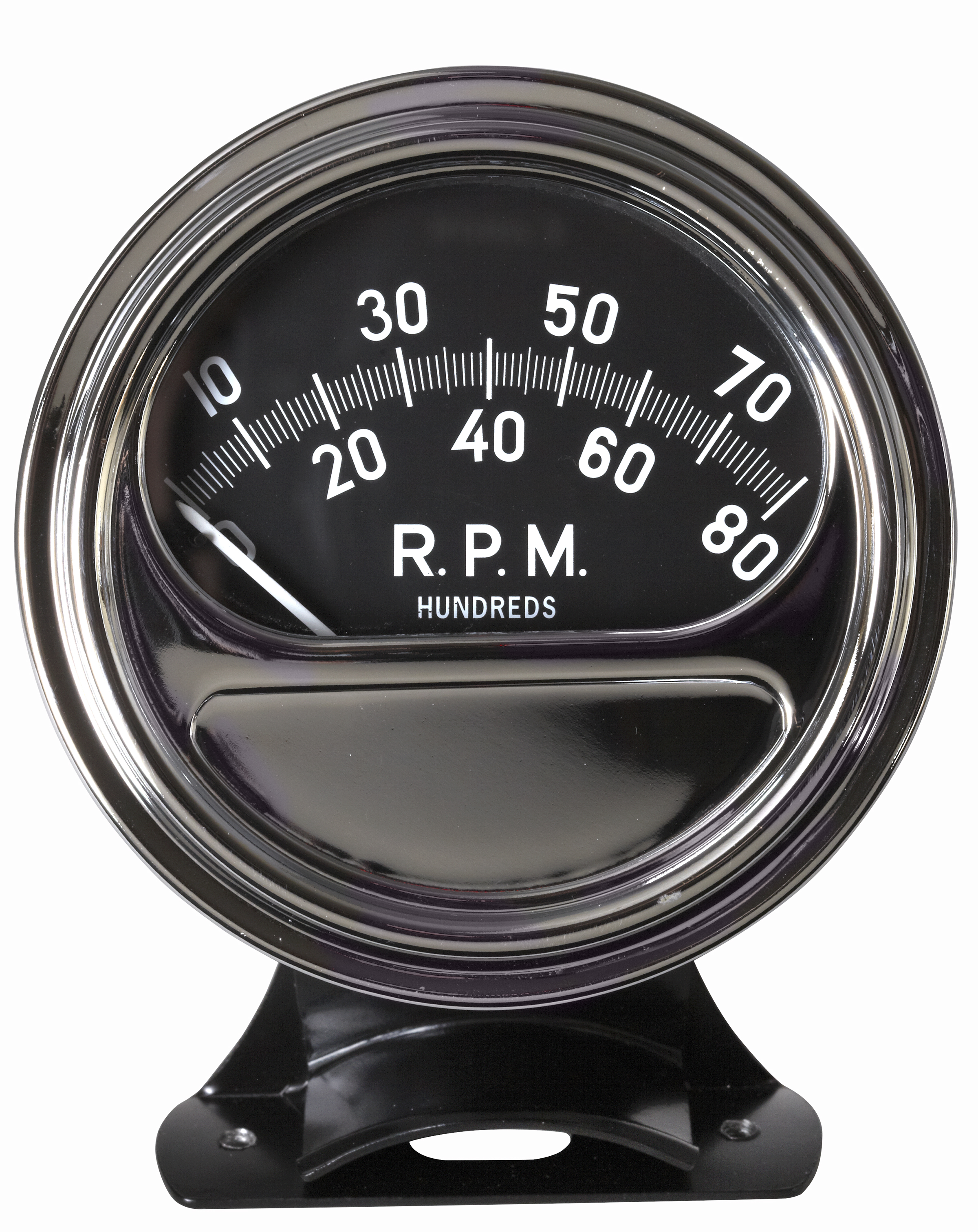 "Retro Tachometer feat. 3-⅜"" with 90 Degree Sweep 