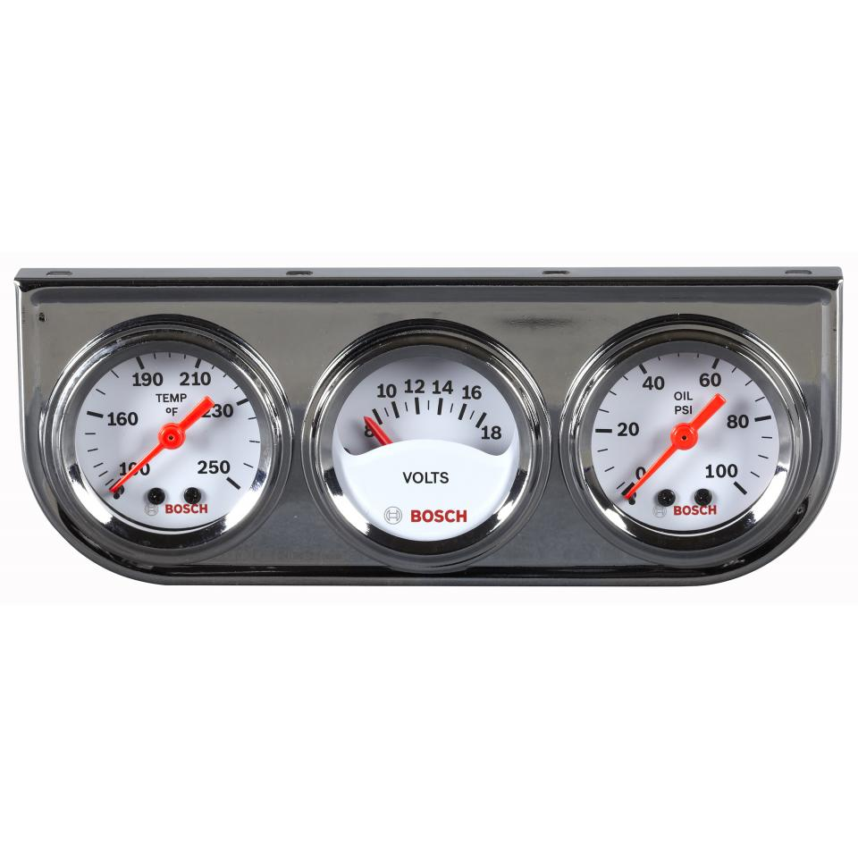 Oil/Water Temp, Voltmeter, Oil Pressure Mini Triple Gauge